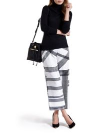 Genee monochrome check trousers