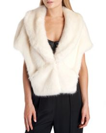 Capell Faux fur cape