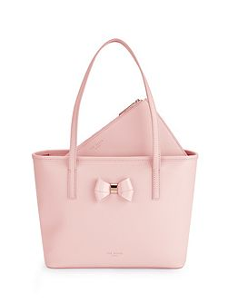 Ritaa Bow leather small shopper bag