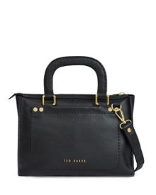 Gaitory stab stitch leather tote bag