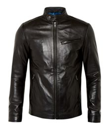Upside leather jacket