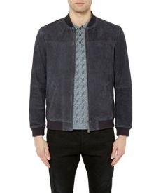 Ted Baker Vipers Suede Bomber Jacket