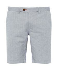 Ted Baker Catsear herringbone oxford shorts