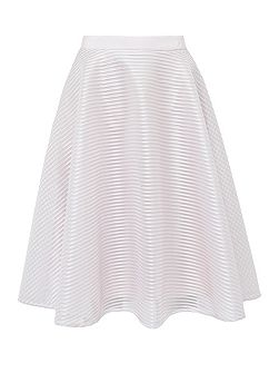 Alishia Mesh ribbed full skirt