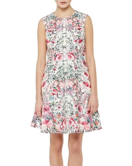 Ted Baker Gaea Layered Bouquet Skater Dress