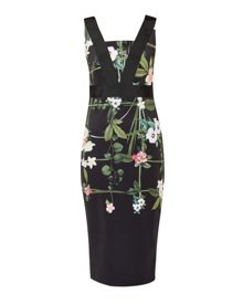 Ted Baker Kacied Secret Trellis contrast dress