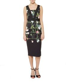 Kacied Secret Trellis contrast dress