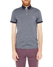 Ted Baker Gangnam Rolled Cuff Cotton Polo Shirt