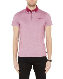 Ted Baker Eletrik Oxford Cotton Jersey Polo
