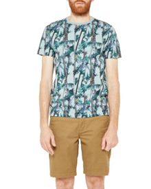 Ted Baker Twistay exotic print cotton t-shirt