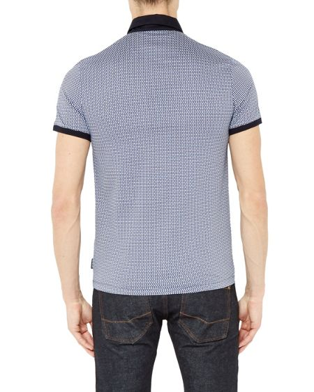 Ted Baker Poptop Geo Spotted Cotton Polo Shirt