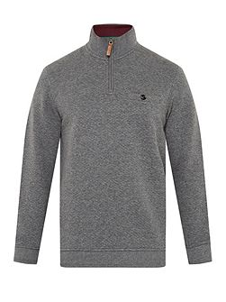 Men's Ted Baker Zaybeck quilted funnel neck jumper