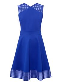 Eleese Mesh Detail Skater Dress