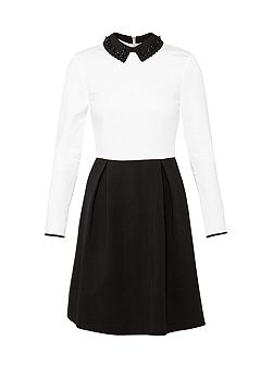 Lailah Decorative collar dress