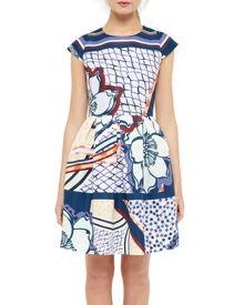 Ted Baker Wrennie Tribal print skater dress