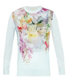 Ted Baker Hanging Gardens Print Sweater