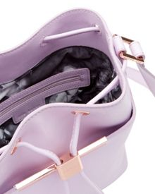 Ted Baker Ersilda Crosshatch Leather Bucket Bag