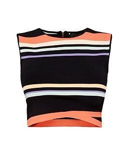 Jeenie Tribal stripe crop top