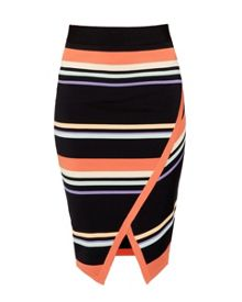 Ted Baker Xammie Tribal stripe wrap midi skirt