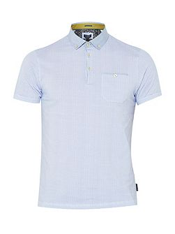 Rustoo Geo Print Cotton Polo Shirt
