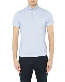 Ted Baker Rustoo Geo Print Cotton Polo Shirt