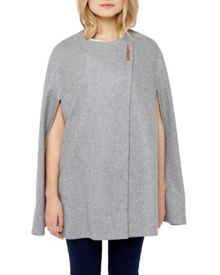 Ted Baker Vireti Metal clasp cape