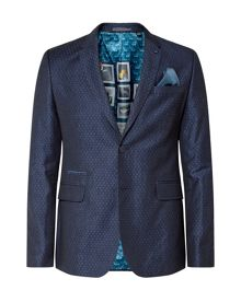 Ted Baker Dreamas jacquard spotted blazer
