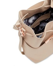 Adrene Crosshatch leather bucket bag