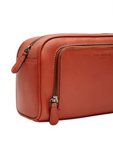 Ted Baker Dotstop leather washbag