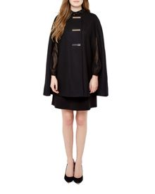 Ted Baker Tuulip Triple bar popper cape