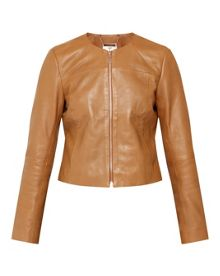 Ted Baker Alam Collarless Leather Jacket