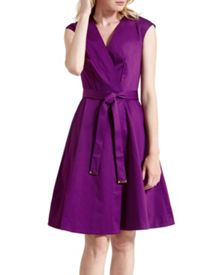 Sigorni V-front wrap dress