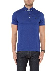 Ted Baker Treekal Linen Collar Polo Shirt