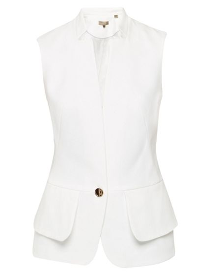Ted Baker Cayciw Peplum Layered Suit Waistcoat