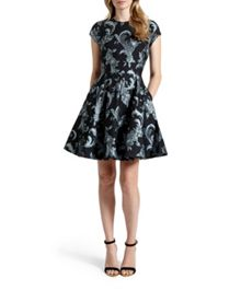 Danetia Acanthus Scroll skater dress