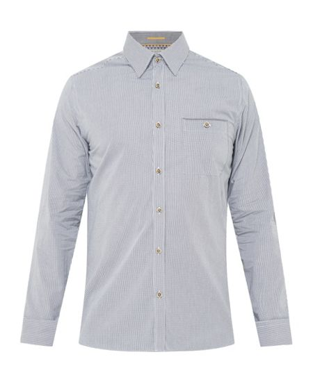 Ted Baker Twosoft micro checked shirt