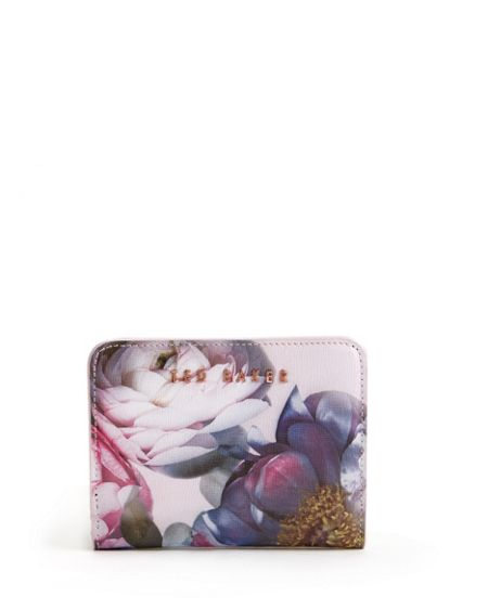 Ted Baker Eveline Floral crosshatch leather purse