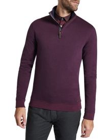 Mescat Half Zip Funnel Neck Jumper
