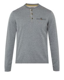 Twyne henley neck ribstart jumper