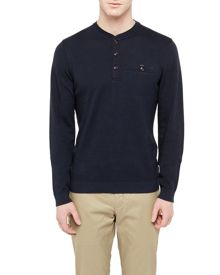 Ted Baker Twyne Henley Neck Ribstart Jumper