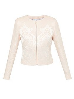 Jacquard cropped jacket