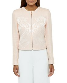 Ted Baker Jacquard cropped jacket
