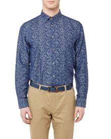 Ted Baker Freeluv Floral Cotton-blend Shirt