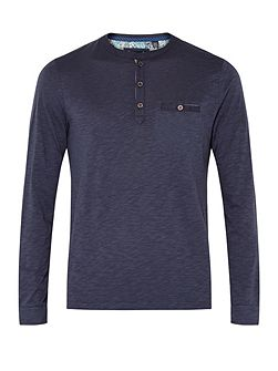 Enry Henley Neck Long Sleeved T-shirt