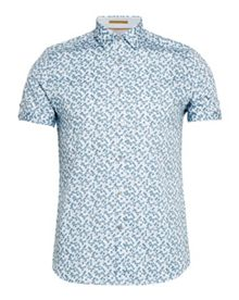 Ted Baker Leafit leaf print cotton shirt