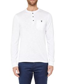 Ted Baker Enry Henley Neck Long Sleeved T-shirt