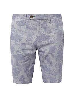 Printed oxford cotton shorts