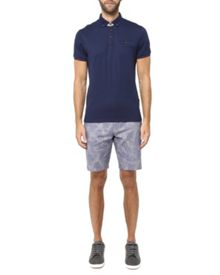 Ted Baker Printed oxford cotton shorts