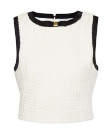 Daarato Textured cropped top