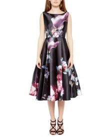 Lulae Ethereal Posie print cut-out dress